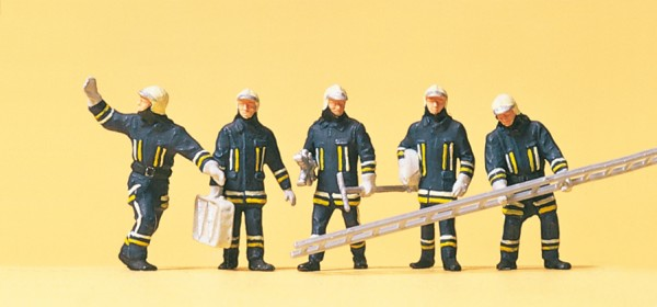 Preiser 10484 - Feuerwehrmänner in moderner Einsatzkleidung