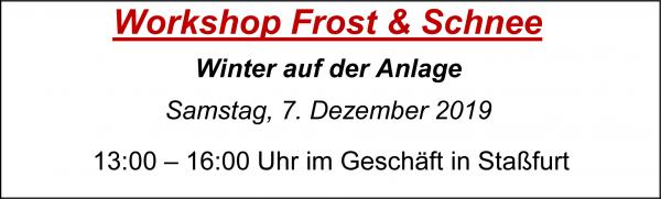 "MoBaLa-Sft - Workshop 12 - "" Frost & Schnee "" am Samstag, 07.12.2019"