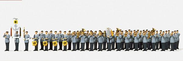 Preiser 16550 - H0 - Heeresmusikkorps, 51 Figuren unbemalt