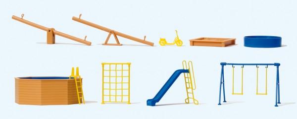 Preiser 17351 - H0 - Spielgeräte für Spielplatz und Garten