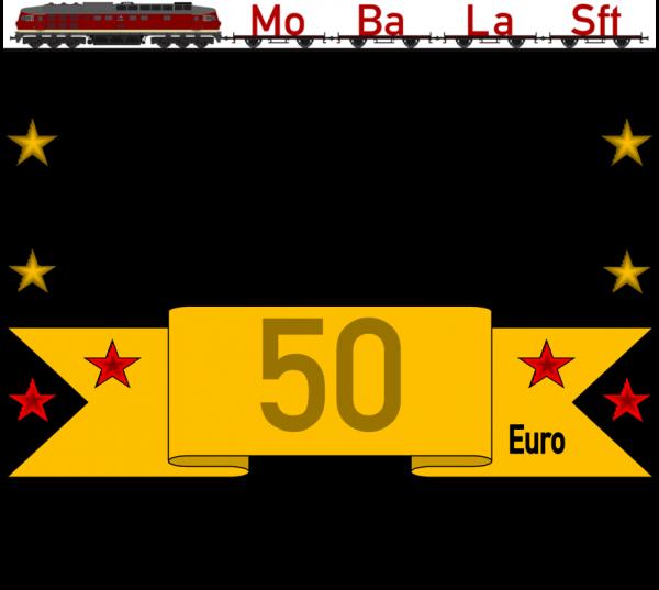 Geschenkgutschein 3 mit dem Wert von 50,- €