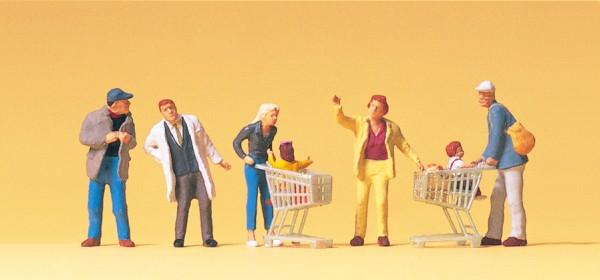 Preiser 10492 - H0 - Beim Einkaufen