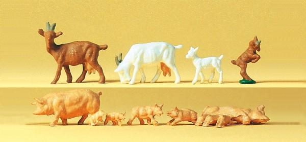 Preiser 14162 - H0 - Ziegen und Schweine