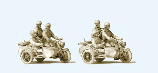 Preiser 16615 - H0 - Kradfahrer NVA. Motorrad Zündapp KS 750