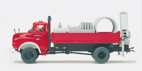 Preiser 35007 - H0 - Gerätewagen Bau. MAN 9.168 HAK