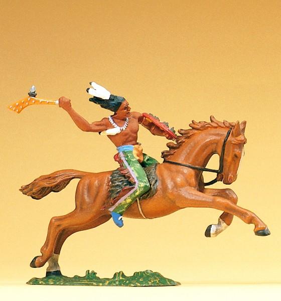 Preiser 54657 - Indianer reitend mit Keule