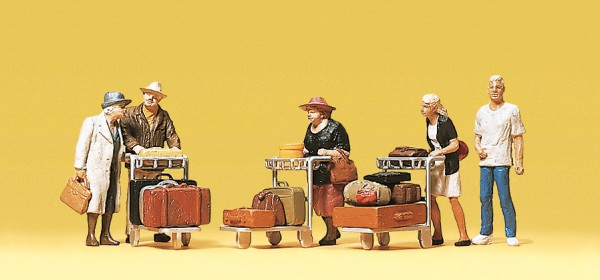 Preiser 10459 - H0 - Reisende mit Kofferkulis
