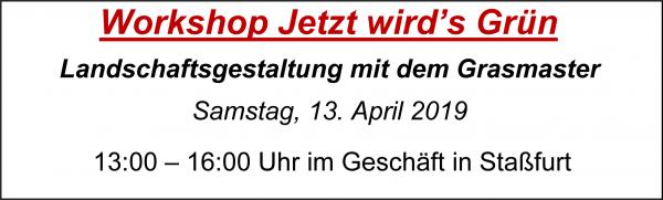 MoBaLa-Sft - Workshop 04 - Jetzt wird's Grün am Samstag, 13.04.2019