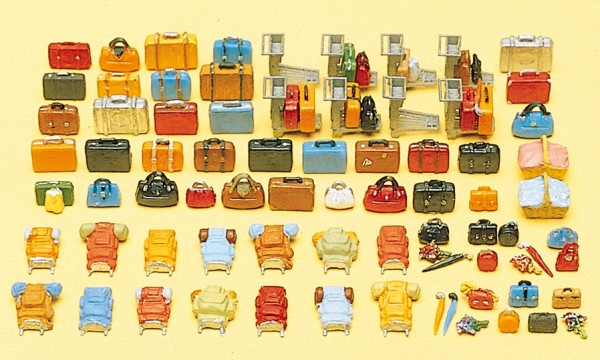 Preiser 17005 - Reisegepäck 90 Teile