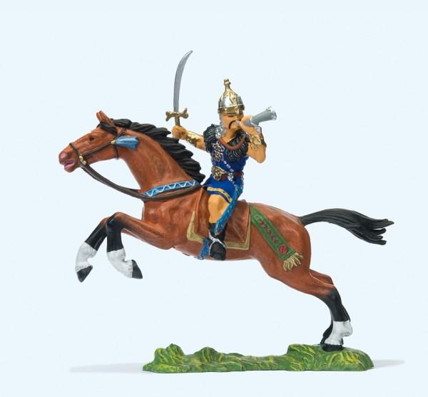 Preiser 50477 - 1:25 - Hunne zu Pferd, Schwert und Horn