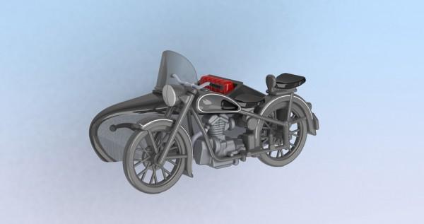 Kres 10425 - H0 - Standmodell - AWO 425 T mit Seitenwagen