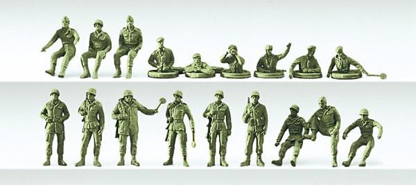 Preiser 16510 - H0 - Posten, Kraftfahrer, Panzersoldaten