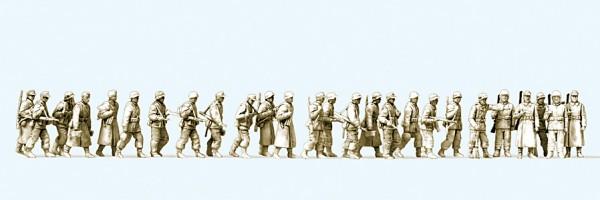 Preiser 16609 - H0 - Infanterie gehend, Winteruniform