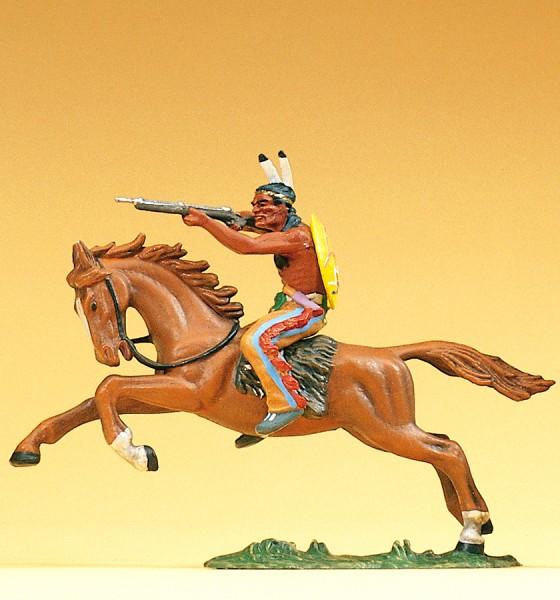 Preiser 54651 - Indianer reitend mit Gewehr