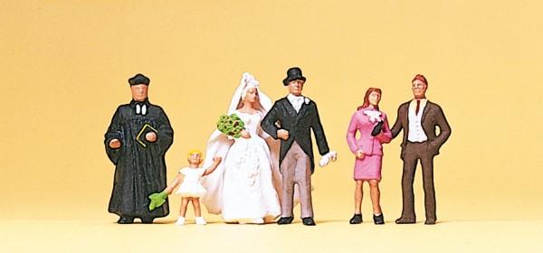 Preiser 10057 - H0 - Brautpaar evangelischer Geistlicher