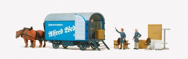 """Preiser 30494 - H0 - Möbelwagen """"A. Wedlich"""", Figuren & Zubehör"""