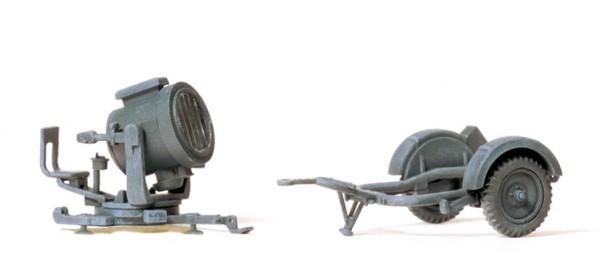 Preiser 16566 - 60 cm Flankscheinwerfer mit Sonderanhänger