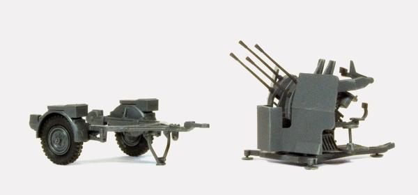 Preiser 16582 - H0 - 2 cm Flakvierling 38 mit SdAnh 52