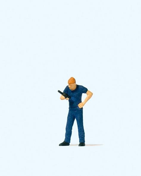 Preiser 28202 - Feuerwehrmann mit Funkgerät