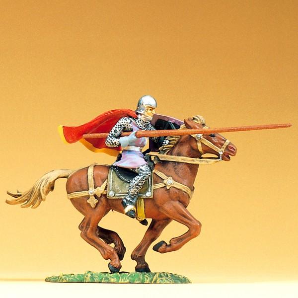 Preiser 50945 - 1:25 - Normanne reitend mit Lanze und großem Umhang