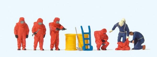 Preiser 10730 - Feuerwehrmänner, Roter Vollschutzanzug