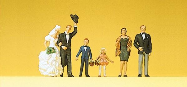 Preiser 10339 - H0 - Brautpaar und Gäste