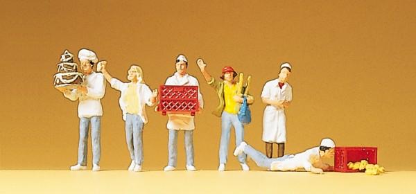 Preiser 10377 - H0 - An der Bäckerrei