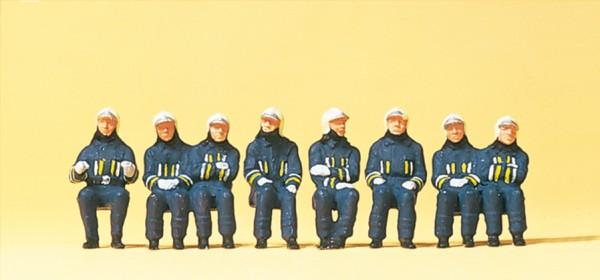Preiser 10483 - H0 - Feuerwehrmänner in moderner Einsatzkleidung