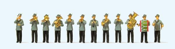 Preiser 24611 - Schützenkapelle, 12 Miniaturfiguren
