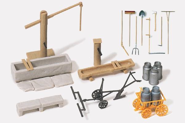 Preiser 17600 - H0 - Ausstattungselemente für ländliche Motive