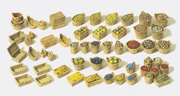 Preiser 17502 - H0 - Körbe, Obst und Gemüse (lose)