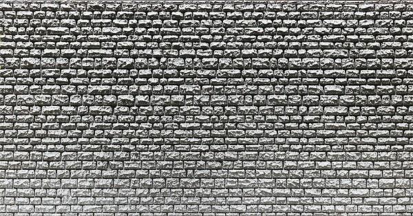 Faller 272651 - N - Dekorplatte Profi Läufermauerwerk, 370 x 125 x 4 mm (2x)