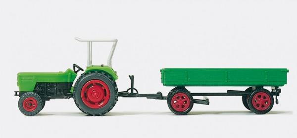 Preiser 17914 - Ackerschlepper DEUTZ D 6206 mit Anhänger