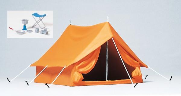 Preiser 45215 - G - Campingzelt und Zubehör