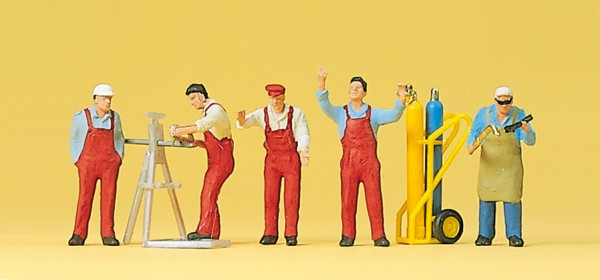 Preiser 10243 - H0 - Handwerker und Zubehör