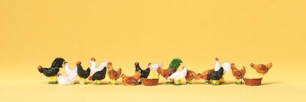 Preiser 14168 - H0 - Hühner und Hähne
