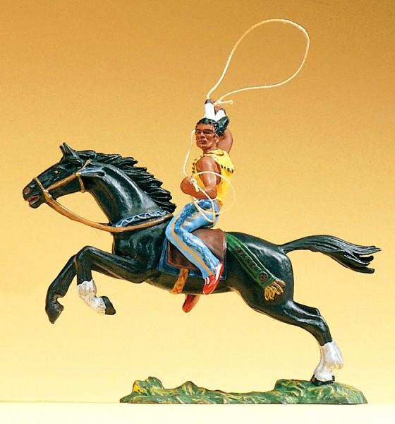 Preiser 54652 - 1:25 - Indianer reitend Lasso werfend