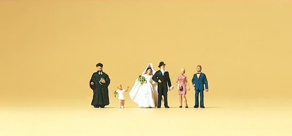 Preiser 79057 - Brautpaar & evangelischer Geistlicher