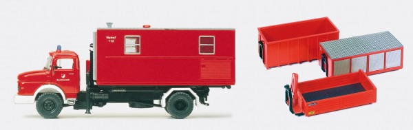 Preiser 31116 - H0 - Wechselaufbaufahrzeug WAF MB LA 1924, Bausatz