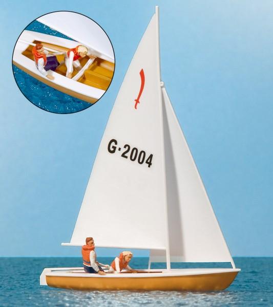 """Preiser 10681 - H0 - Segler (4) Segelboot """"Korsar"""""""
