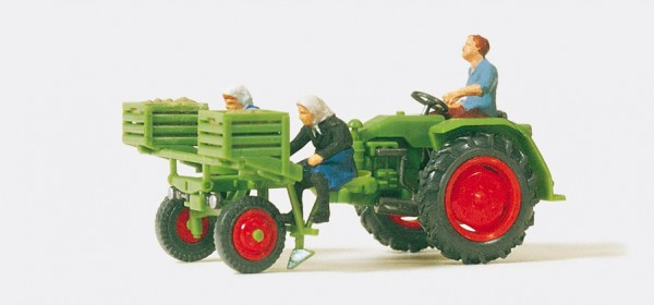 Preiser 17935 - H0 - Geräteträger mit Kartoffellegemaschine