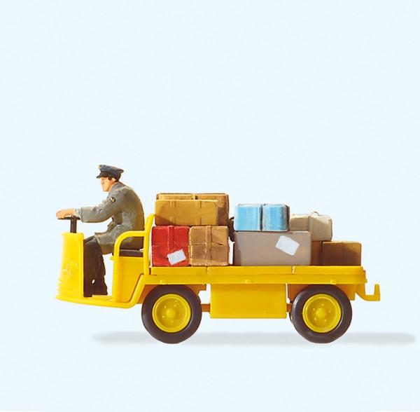 Preiser 28146 - H0 - Elektrokarre mit Fahrer, Post