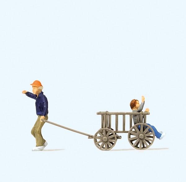 Preiser 28112 - Kinder mit Bollerwagen