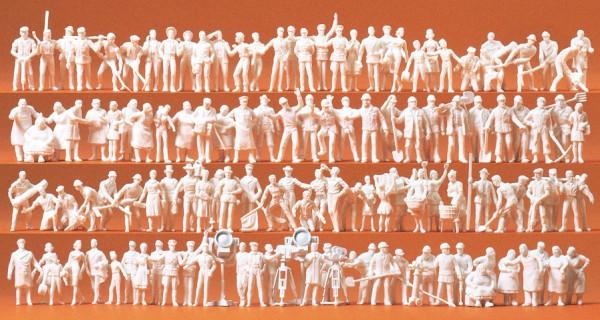 Preiser 16326 - H0 - Verschiedene Berufe, 120 unbemalte Figuren