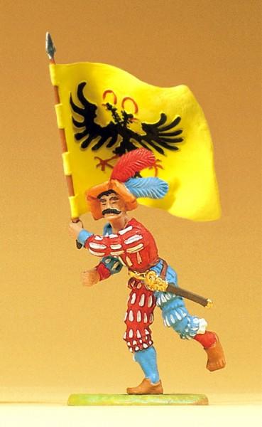 Preiser 52306 - Landsknecht stürmend mit Fahne