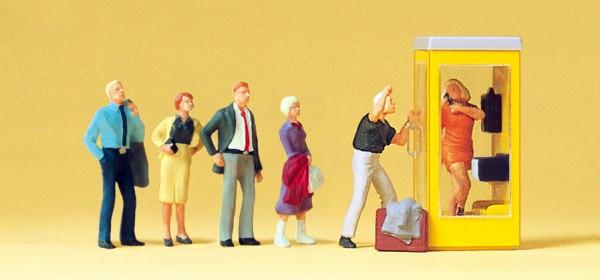 Preiser 10523 - H0 - Wartende an Telefonzelle