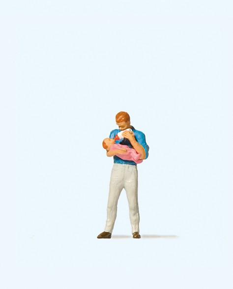 Preiser 28177 - H0 - Vater mit Säugling
