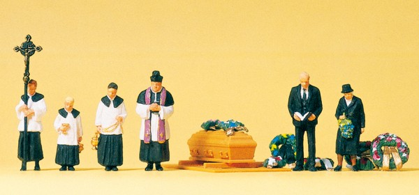 Preiser 10520 - H0 - Beerdigung , katolischer Geistlicher