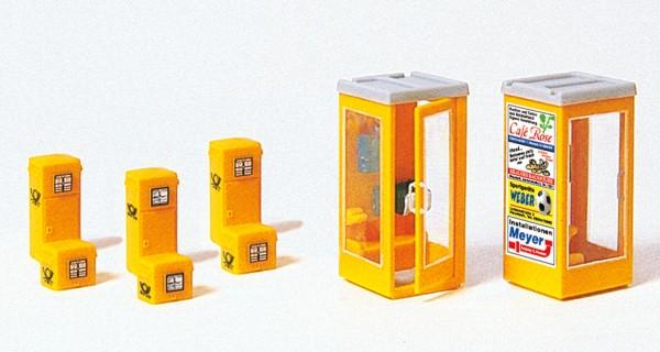 Preiser 17213 - H0 - Briefkästen & Telefonzellen