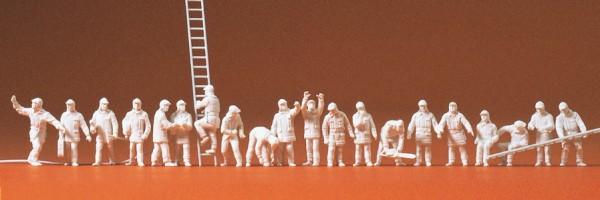 Preiser 16351 - H0 - Feuerwehrmänner in morderner Einsatzkleidung, 20 Figuren, unbemalt